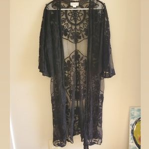 Long Lace Kimono